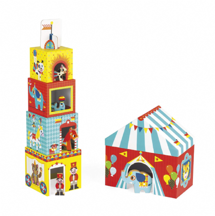 Janod Multikub Circus Stacking Blocks